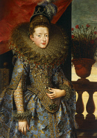 0341812 © Granger - Historical Picture ArchiveHISTORY.   Portrait of Margherita of Savoy (Turin, 1851-Bordighera, 1926), daughter of Charles Emmanuel I, Duke of Savoy, painting by Frans Pourbus the Younger (1569-1622), oil on canvas, 206.5 x16.3 cm. Full credit: De Agostini / G. Nimatallah / Granger, NYC -- All rights reserved.