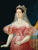 0341837 © Granger - Historical Picture ArchiveHISTORY.   Portrait of Maria Cristina of Savoy (Cagliari, 1812-Naples, 1836), Princess of Sardinia and Queen consort of Ferdinand II (1810-1859), King of the Two Sicilies, painting by Caracciolo (19th century), 1835, oil on canvas, 102.3 x79.5 cm. Full credit: De Agostini / L. Pedicini / Granger, NYC -- All Rights Reserved.