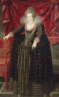 0341842 © Granger - Historical Picture ArchiveHISTORY.   Portrait of Maria de Medici (Florence, 1575-Cologne, 1642), second wife of Henry IV of France (1553-1610), King of France, painting by Frans Pourbus the Younger (1569-1622). Full credit: De Agostini / G. Dagli Orti / Granger, NYC -- All Rights Reserved.