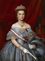 0341874 © Granger - Historical Picture ArchiveHISTORY.   Portrait of Maria Sofia of Bavaria (Possenhofen, 1841-Monaco of Bavaria, 1925), queen consort of King Francis II (1836-1894), King of the Two Sicilies, painting, 1860, oil on canvas, 113.5 x88 cm. Full credit: De Agostini / L. Pedicini / Granger, NYC -- All rights reserved.
