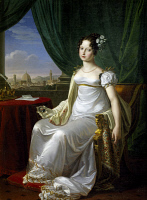 0341894 © Granger - Historical Picture ArchiveHISTORY.   Portrait of Maria Theresa of Austria (Vienna, 1801-Turin, 1855), Archduchess of Austria and wife of King Charles Albert of Sardinia (1798-1849), King of Sardinia, painting by Pietro Benvenuti (1769-1844), 1817, oil on canvas, 167x124 cm. Racconigi Castle, Italy. Full credit: De Agostini / A. Dagli Orti / Granger, NYC -- All rights reserved.