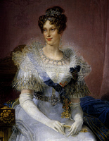 0341917 © Granger - Historical Picture ArchiveHISTORY.   Portrait of Marie Louise, Duchess of Parma (Vienna, 1791-Parma, 1847), Empress of France, second wife of Napoleon I, Emperor of the French (1769-1821), detail from a painting by Giovanni Battista Borghesi (1790-1846 ). Full credit: De Agostini / A. Dagli Orti / Granger, NYC -- All rights