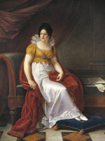 0341923 © Granger - Historical Picture ArchiveHISTORY.   Portrait of Marie Louise, Duchess of Parma (Vienna, 1791-Parma, 1847), Empress of France, second wife of Napoleon I, Emperor of the French (1769-1821), painting by Vincenzo Camuccini (1771-1844). Full credit: De Agostini / Bardazzi / Granger, NYC -- All rights reserved.