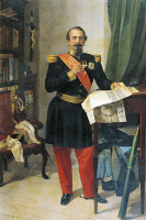 0342020 © Granger - Historical Picture ArchiveHISTORY.   Portrait of Napoleon III (Paris, 1808-Chislehurst, 1873) President of the French Republic and Emperor of France. Painting by Gaetano Belvederi. Full credit: De Agostini / Bardazzi / Granger, NYC -- All rights reserved.