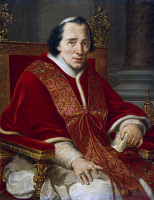 0342175 © Granger - Historical Picture ArchiveHISTORY.   Portrait of Pope Pius VII (Cesena, 1742-Rome, 1823), painting by Francesco Alberi (1765-1836). Full credit: De Agostini / G. Dagli Orti / Granger, NYC -- All rights rese