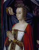 0342747 © Granger - Historical Picture ArchiveHISTORY.   Suzanne de Bourbon (1491-Chatellerault, 1521), Duchess of Bourbon and Auvergne from 1503. Triptych by Jean Hey or Hay (ca 1475-ca 1505), known as the Master of Moulins, detail of the right leaf. Full credit: De Agostini / G. Dagli Orti / Granger, NYC -- All rights reserved.