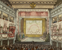 0343801 © Granger - Historical Picture ArchiveLITERATURE & THE ARTS.   Austria, 19th century. Vienna. Interior of the Theater in der Josefstadt during a performance. Painting by Theodor Jachimovicz. Full credit: De Agostini / A. Dagli Orti / Granger, NYC -- All rights reserved.