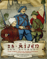 0344306 © Granger - Historical Picture ArchiveLITERATURE & THE ARTS.   Collection of Czecho-Slovakian freedom songs, 1918, cover, music by Ferdinand Sladeck (1872-1943). Full credit: De Agostini / A. Dagli Orti / Granger, NYC -- All Rights Reserved.