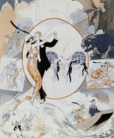 0344465 © Granger - Historical Picture ArchiveLITERATURE & THE ARTS.   Dance scene, from the magazine La Vie Parisienne, France, 1913. Full credit: De Agostini / M. Seemuller / Granger, NYC -- All rights reserved.