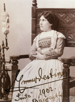 0344762 © Granger - Historical Picture ArchiveLITERATURE & THE ARTS.   Emmy Destinn (1878-1930) Czech soprano, as Senta in The Flying Dutchman by Richard Wagner, in a production at Bayreuth, 1901-1902. Autographed photograph. Full credit: De Agostini / A. Dagli Orti / Granger, NYC -- All Rights Reserved.
