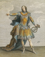 0346111 © Granger - Historical Picture ArchiveLITERATURE & THE ARTS.   Louis XV in the role of Apollo in Phaeton, engraving by Martin. France, 18th century. Full credit: De Agostini / G. Dagli Orti / Granger, NYC -- All rights