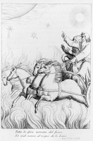 0346133 © Granger - Historical Picture ArchiveLITERATURE & THE ARTS.   Ludovico Ariosto (1474-1533), Orlando furioso (The Frenzy of Orlando). Engraving by Filippo Pistrucci. Full credit: De Agostini Picture Library / Granger, NYC -- All Rights Reserved.