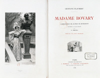 0346193 © Granger - Historical Picture ArchiveLITERATURE & THE ARTS.   Madame Bovary, title page for the French edition of the 1905 novel by Gustave Flaubert (1821-1880). Full credit: De Agostini Picture Library / Granger, NYC -- All Rights Reserved.