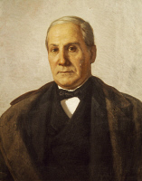 0347362 © Granger - Historical Picture ArchiveLITERATURE & THE ARTS.   Portrait of Francesco Florimo (San Giorgio Morgeto, 1800 - Naples, 1888), Italian composer. Full credit: De Agostini / A. Dagli Orti / Granger, NYC -- All Rights Reserved.