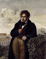 0347380 © Granger - Historical Picture ArchiveLITERATURE & THE ARTS.   Portrait of Francois-Rene de Chateaubriand (Saint-Malo, 1768-Paris, 1848), French writer, politician and diplomat. Painted in 1811 by Anne Louis Girodet Trioson (1767-1824), oil on canvas, 130x96 cm. Full credit: De Agostini / G. Dagli Orti / Granger, NYC -- All rights reser