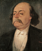 0347593 © Granger - Historical Picture ArchiveLITERATURE & THE ARTS.   Portrait of Gustave Flaubert (Rouen, 1821-Croisset, 1880), French writer. Painted in 1856 by Eugene Giraud (1806-1881). Full credit: De Agostini Picture Library / Granger, NYC -- All rights reserved.