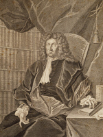 0347724 © Granger - Historical Picture ArchiveLITERATURE & THE ARTS.   Portrait of Johann Heinrich Ernesti (Koenigsfeld at Rochlitz, 1652 - Leipzig, 1729), philosopher, poet, theologian and rector of the school of St. Thomas in Leipzig, where Johann Sebastian Bach (1685-1750) was Thomaskantor (muscial director). Engraving from 1729. Full credit: De Agostini / A. Dagli Orti / Granger, NYC -- All rights r