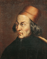0347896 © Granger - Historical Picture ArchiveLITERATURE & THE ARTS.   Portrait of Marsilio Ficino (Figline Valdarno, 1433 - Careggi, 1499), Italian philosopher and humanist. Full credit: De Agostini / G. Dagli Orti / Granger, NYC -- All Rights Reserved.