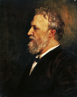 0348016 © Granger - Historical Picture ArchiveLITERATURE & THE ARTS.   Portrait of Robert Browning (Camberwell, 1812 - Venice, 1889), English poet and playwright. Oil on canvas by George Frederic Watts (1817-1904), 1866, 66.4 x53.8 cm. Full credit: De Agostini Picture Library / Granger, NYC -- All Rights Reserved.