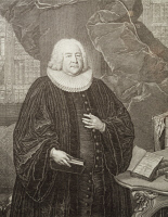 0348035 © Granger - Historical Picture ArchiveLITERATURE & THE ARTS.   Portrait of Salomon Deyling (1677-1755), theologian and rector of the school of St. Thomas in Leipzig, where Johann Sebastian Bach (1685-1750) was Thomaskantor (muscial director). Engraving. Full credit: De Agostini / A. Dagli Orti / Granger, NYC -- All rights reserved.