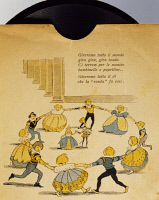 0348338 © Granger - Historical Picture ArchiveLITERATURE & THE ARTS.   Ring a Ring o' Roses, children's music record. Italy, early 20th century. Full credit: De Agostini / A. Dagli Orti / Granger, NYC -- All rights reserved.