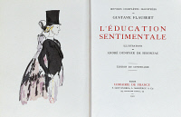 0348608 © Granger - Historical Picture ArchiveLITERATURE & THE ARTS.   Sentimental Education, the title page of the 1922 French edition of the novel by Gustave Flaubert (1821-1880). Full credit: De Agostini Picture Library / Granger, NYC -- All Rights Reserved.