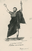 0348885 © Granger - Historical Picture ArchiveLITERATURE & THE ARTS.   The actor Francois-Joseph Talma (1763-1826) in the role of Regulus, lithograph. France, 18th century. Full credit: De Agostini Picture Library / Granger, NYC -- All Rights Reserved.