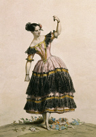0349159 © Granger - Historical Picture ArchiveLITERATURE & THE ARTS.   The dancer Fanny Elssler (1810-1884) in the role of Florinda in the third act of the ballet The Lame Devil. Print, 19th century. Full credit: De Agostini / A. Dagli Orti / Granger, NYC -- All rights reserved.