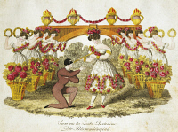0349493 © Granger - Historical Picture ArchiveLITERATURE & THE ARTS.   The queen of flowers, pantomime for flute, Viennese operetta. Austria,19th century. Full credit: De Agostini / A. Dagli Orti / Granger, NYC -- All rights r