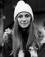 0164263 © Granger - Historical Picture ArchiveFRANCESCA ANNIS (1945-).   Actress Gstaad, Switzerland 1972. Photographed by Horst Tappe.