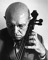 0164459 © Granger - Historical Picture ArchivePABLO CASALS (1876-1973).   Cellist composer conductor Zermatt Switzerland 1964. Photographed by Horst Tappe.