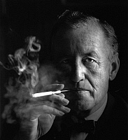 0164618 © Granger - Historical Picture ArchiveIAN FLEMING (1908-1964).   English novelist and creator of James Bond. Photograph by Horst Tappe, 1963.