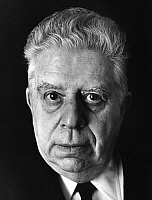 0165027 © Granger - Historical Picture ArchiveEUGENIO MONTALE (1896-1981).   Poet Milan Italy 1968. Photographed by Horst Tappe.