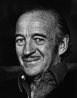 0165134 © Granger - Historical Picture ArchiveDAVID NIVEN (1910-1983).   Actor Château d'Oex Switzerland. Photographed by Horst Tappe.