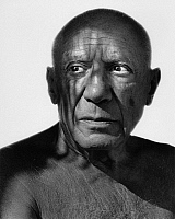 0165183 © Granger - Historical Picture ArchivePABLO PICASSO (1881-1973).   Painter Cannes France 1963. Photographed by Horst Tappe.