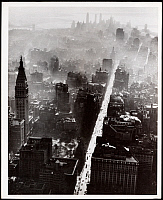 0163598 © Granger - Historical Picture ArchiveNEW YORK: LOWER MANHATTAN.   Aerial view of lower Manhattan from Madison Square, 1944.