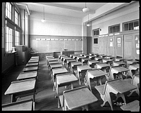 0163655 © Granger - Historical Picture ArchiveNEW YORK: CLASSROOM, 1926.  Interior of a classroom at P.S. 99, 99th Street and First Avenue, East Harlem. Photograph, 16 January 1926.