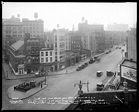 0163659 © Granger - Historical Picture ArchiveNEW YORK: GREENWICH VILLAGE.   View, from the roof of 224 West 4th Street alongside Greenwich Village Theatre looking south through Washington Place, 1929.