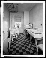 0163660 © Granger - Historical Picture ArchiveNEW YORK: APARTMENT, 1929.   Kitchen in one of the Amalgamated Clothing Workers Apartments in the Bronx, New York, 1929.