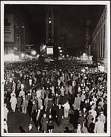 0166015 © Granger - Historical Picture ArchiveTIMES SQUARE, 1944.   Times Square at night, New York City. Photograph, 1944.