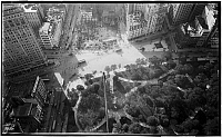 0166036 © Granger - Historical Picture ArchiveFLATIRON BUILDING, c1900.   Aerial view of the Flatiron Building (Fuller Building) and surrounding area, New York City. Photograph, c1900.