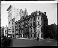 0166038 © Granger - Historical Picture Archive5TH AVENUE & 55TH STREET.   Corner of 5th Avenue and 55th Street, Glaenzer Galleries and Baques Freres Co. buildings are visible, New York City. Photograph, c1900.