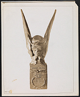 0166077 © Granger - Historical Picture ArchiveAIRLINE INDUSTRY TROPHY.   Trophy awarded to Mr. Alfred W. Lawson (of Lawson Aerocraft Co., 1819 Broadway, New York City) in recognition of his inventions and developments in the airline industry. Photograph, 1927.