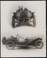 0166094 © Granger - Historical Picture ArchiveB.L.M. RACEABOUT.   Lithograph of two views of a 1907 B.L.M. Raceabout automobile, c1907.