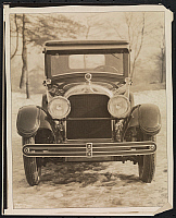 0166101 © Granger - Historical Picture ArchiveCADILLAC, 1925.   Cadillac in the snow. Photograph, 1925.