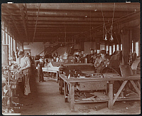 0166117 © Granger - Historical Picture ArchiveMAXWELL-BRISCOE FACTORY.   Workers assembling automobiles at the Maxwell-Briscoe Automobile Factory in Phillips Point (near Tarrytown), New York. Photograph, 1904.