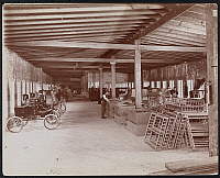 0166119 © Granger - Historical Picture ArchiveAUTOMOBILE FACTORY.   Automobile factory at Kingsland Point, New York (near Tarrytown) with automobiles and laborers. Photograph, 1900.