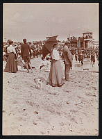 0166155 © Granger - Historical Picture ArchiveASBURY PARK, NEW JERSEY.   The beach in Asbury Park, New Jersey. Photograph, 1898.