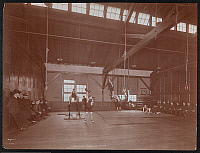 0166184 © Granger - Historical Picture ArchiveGYMNASIUM, 1906.   Men exercising in the Brooklyn Rapid Transit Railroad Men's Building gymnasium, Brooklyn, New York. Photograph, 1906.