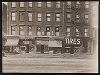 0166238 © Granger - Historical Picture ArchiveNEW YORK: BUSINESSES.   Building with Byron Company studio on the second floor, a cigar store, jewelery store, shoe store, confectionery, and tire store on the ground floor, New York City. Photograph, 1916.